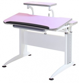 Reo-Smart Elite Alexis Ergonomic Adjustable Desk & Bookshelf Set for Children-Pink