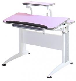 Reo-Smart Elite Alexis Ergonomic Adjustable Desk & Bookshelf Set for Children-Pink